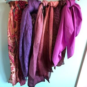 VTG Pink & Purple Scarf Bundle